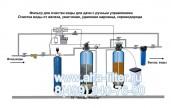 Фильтр для очистки воды с ручным управлением  Схема № 7